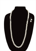 Best Desu 17057 2 Crystal Pearl Glass Necklaces And 1 Pair Of Earrings
