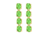Fine Jewellery Vault UBER57Y14PR Eight Carat Totaling Gem Weights of Oval Peridot Drop Earrings in 14K Yellow Gold Prong Setting