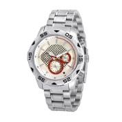 NobelWatchCo EZ 623 GW Silver-Red Multi Function Watch