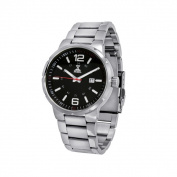 NobelWatchCo EZ 625 GR Black-Red Stainless Watch