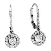 Luis Creations ERL1393 1.45 Ct. Diamond Lever-Back Earrings Set In 14K Gold