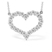Luis Creations PRL1290-140 14K Gold Heart Pendant With 1.40 Ct. Of Diamonds