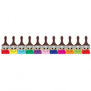 HYGLOSS PRODUCTS INC. HYG33633 HAPPY PAINTBRUSH DIE CUT CLASSROOM