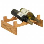 Wooden Mallet WR31LO 3 Bottle Dakota Wine Rack