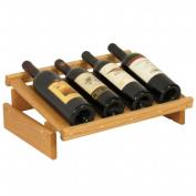 Wooden Mallet WRD4LO 4 Bottle Dakota Wine Display