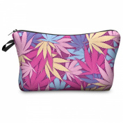 Mens Ladies Toiletry Bag Vanity case, make up, purse, pencil case, phone handbag, jewellery pouch NEW! Weed Pink