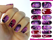 Full Wrap Nail Art Water Transfer Decal Sticker Christmas Decoration K5671 Nail Sticker Tattoo - FashionLife