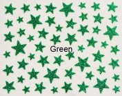 Nail Art 3d Glitter Stickers - Stars