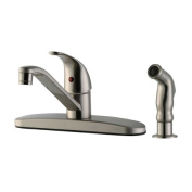 Design House 545855 Middleton Kitchen Faucet with Side Sprayer Satin Nickel