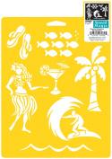 Stencil Mania Stencil 7X10-Tropical Vacation