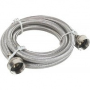 Durapro 531038 Washing Machine Hose 180cm . Stainless Steel -Pack of 3