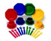 Learning Resources 4-Place Setting Dish Set 24 Piece