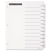 Avery-Dennison 11678 Office Essentials Table `N Tabs Dividers 12-Tab Months Letter White 1 Set