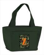 Carolines Treasures CJ1030-Z-GN-8808 Monogram Letter Z - Camo Green Insulated Cooler Lunch Bag