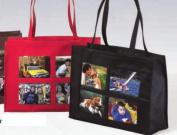 Joann Marie Designs NPH4PBL 4-Pocket Photo Tote - Black Pack of 2