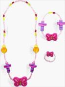 Solid Rock Jewellery 4754 Necklace Purple Fimo Flowered Cross 46cm .