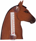Songbird Essentials Brown Horse Head Small Window Thermometer