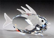 Asfour Crystal 957-65 3.14 L x 1.85 H in. Crystal Fish Sea Figurines