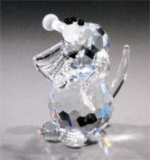 Asfour Crystal 651-17 1.18 L x 1.33 H in. Crystal Dog Animals Figurines