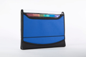 Filexec Soft Touch Padded Canvas Window Expanding File 13 Pockets Blue