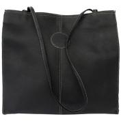 Piel Leather 2344 - BLK Medium Market Bag - Black