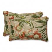 Pillow Perfect 538563 Botanical Glow Tiger Stripe Rectangular Throw Pillow