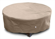 KoverRoos 33067 KoverRoos III Large Firepit Cover Taupe - 45 Dia x 21 H in.