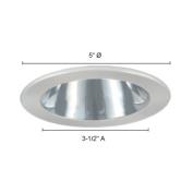 Jesco Lighting TM402CHBK 10cm . Low Voltage Adjustable Open Reflector Trim Chrome Reflector Black Trim
