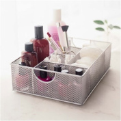 YBM Home 1152 Silver Vanity Organiser or tray - 6 Compartments