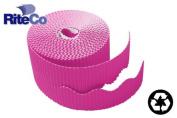 RiteCo Raydiant 22816 Riteco Trim-It Corrugated Scalloped Decorative Border. Two .60cm . X 15m Strips Per Roll Magenta 6 Rolls