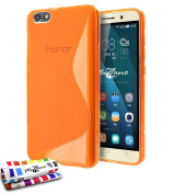 """Muzzano Original """"Le Glossy"""" Flexible ultra-slim Shell Case with 3 Screen Protectors for Huawei Honour Pack 4X"""