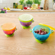 Tofern BPA free Stay Put Suction Baby Infant Bowl Set Travel Weaning Bowl Set