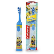 Colgate Minions Kids Battery Operated Toothbrush (Small oscillating head, easy hold handle, 2x AAA Batteries Included)