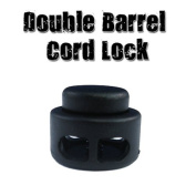 Paracord Planet Double Barrel Black Cord Lock Draw String Toggle Stopper - Choose from 5, 10, & 20 Pack Sizes