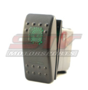 Green Rocker Switch ON-ON-OFF 20A 12V LED Light 3 Positions