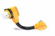 Camco 55562 46cm 50 AMP Standard Male / 50 AMP 90 Degree Locking Female PowerGrip Adapter