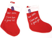 "30cm ""Santa I have been a good girl/boy"" stocking PM170"