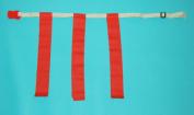 Everrich EVC-0037 Flag Belt - Adjustable Rip - 30-110cm Waist - Set of 1 Belt 3 Flags with Clip
