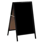 Aarco Products AA-11 A-Frame Sidewalk Black Markerboard - Aluminium