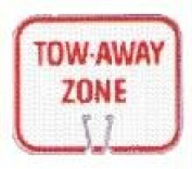 Olympia Sports SF081P Snap-On Cone Sign - TOW-AWAY ZONE