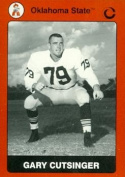 Autograph Warehouse 91713 Gary Cutsinger Football Card Oklahoma State 1990 Collegiate Collection No . 27