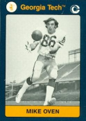 Autograph Warehouse 96616 Mike Oven Football Card Georgia Tech 1991 Collegiate Collection No. 81