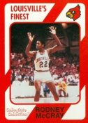Autograph Warehouse 101786 Rodney Mccray Basketball Card Louisville 1989 Collegiate Collection No. 292