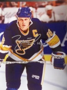 Powers Collectibles 34051 Signed Hull Brett - St. Louis Blues - 11x14 Photo Photo