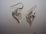 Hotrod Rocks HRR-013E Flaming Heart Earrings