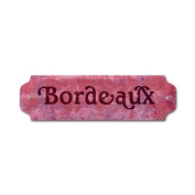 Past Time Signs VP013 Bordeaux Bar and Alcohol Door Push Metal Sign