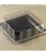 EMI Yoshi EMI-1414LP 36cm . x 36cm . Square PET Dome Lid - Pack of 50 - Clear