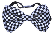 Costumes For All Occasions Sa10164 Bow Tie White/Black Cheque