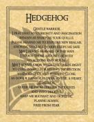 AzureGreen EPHEDP Hedgehog Prayer Poster
