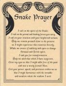AzureGreen EPSNAP Snake Prayer Poster